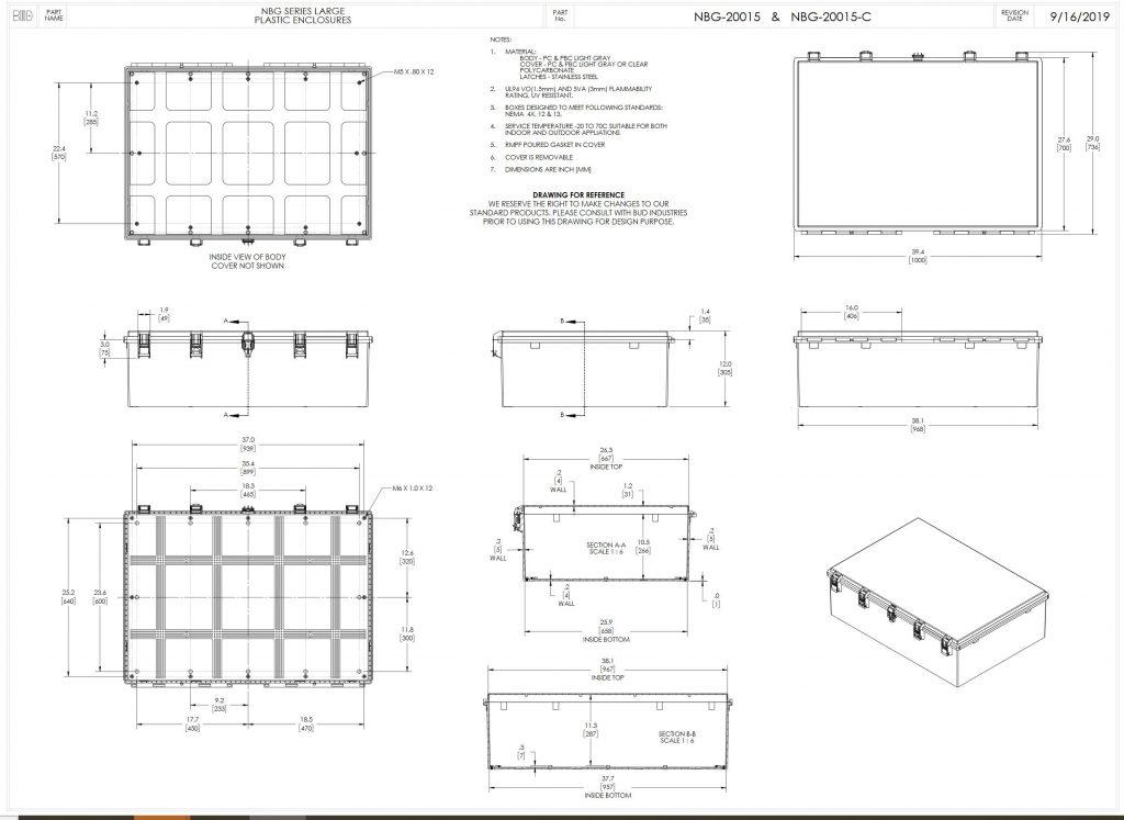 NBG-20015 Dimensions