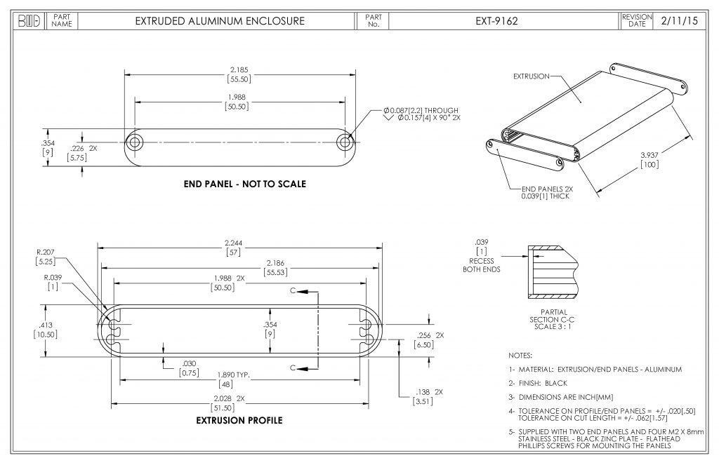 EXT-9162 Dimensions