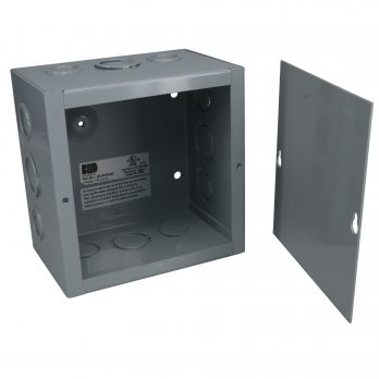 Hinged Junction Box with Knockouts JB-3951-KO open