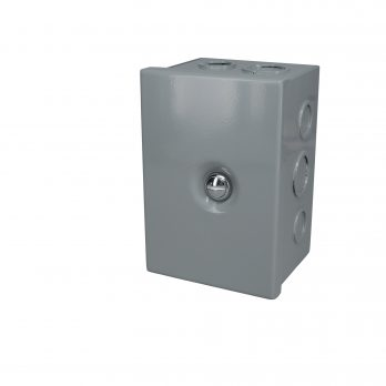 Hinged Junction Box with Knockouts JBH-4944-KO closed