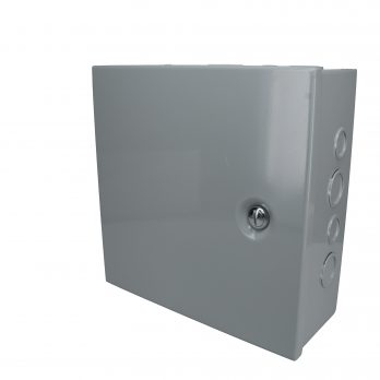 Hinged Junction Box with Knockouts JBH-4960-KO closed