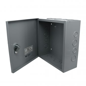 Hinged Junction Box with Knockouts JBH-4960-KO open