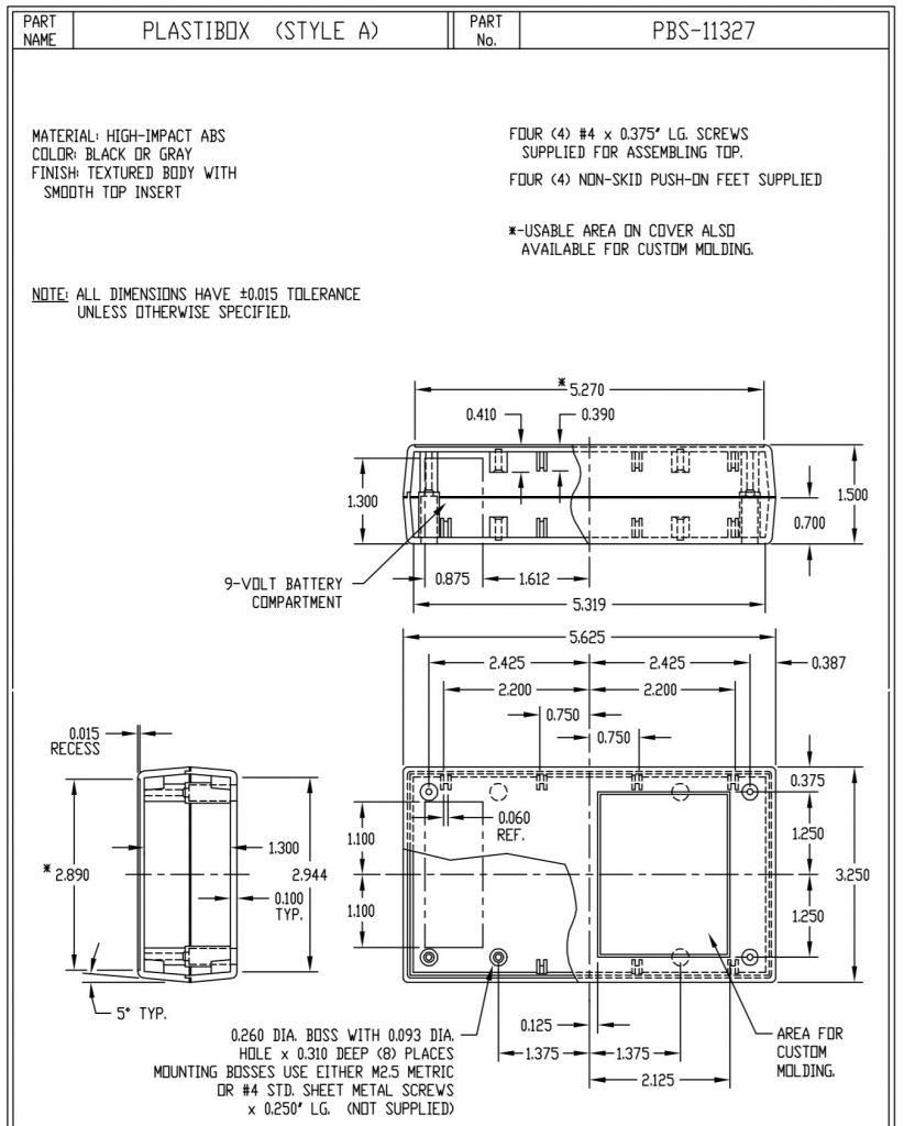 PBS-11327-G Dimensions