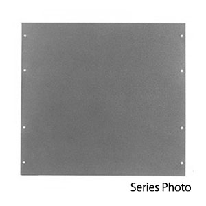 Aluminum Panel PA-1101-WH, 19 x 1.75 x 0.13 Inches