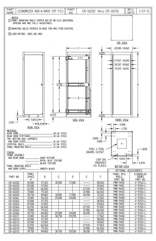 ER-16563-RB Dimensions