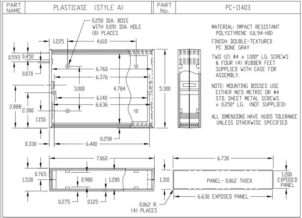 PC-11403 Dimensions