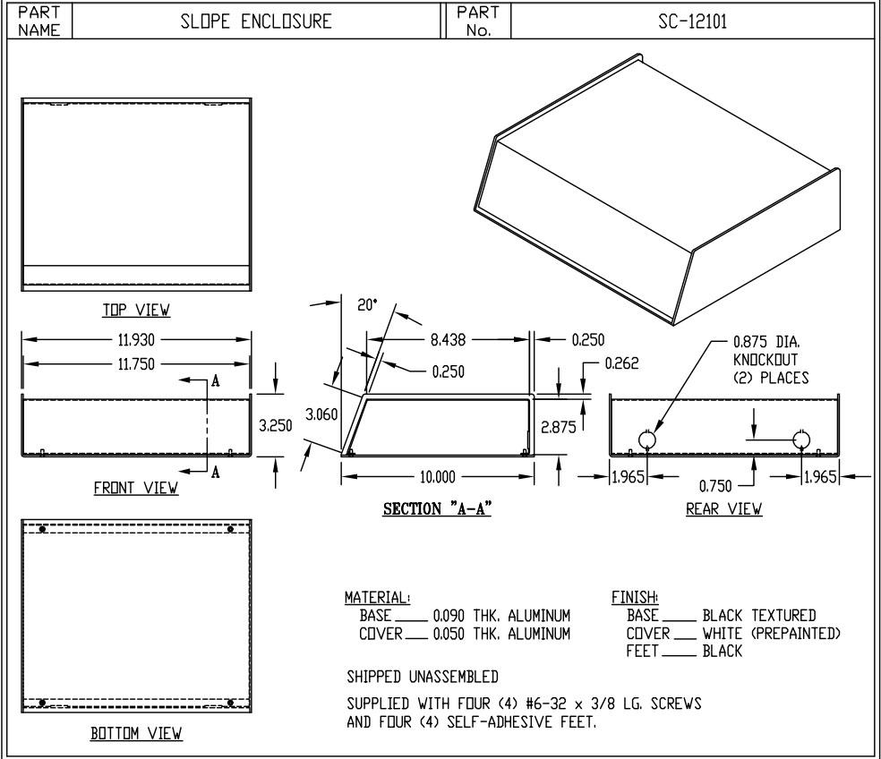 SC-12101 Dimensions