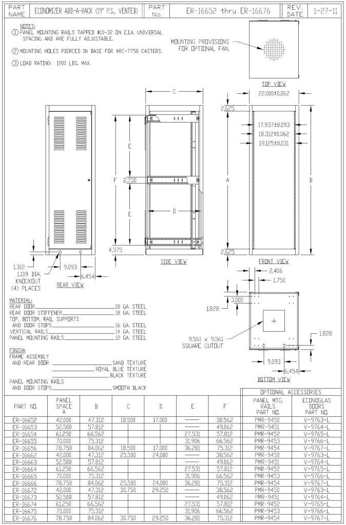 ER-16653-BT Dimensions