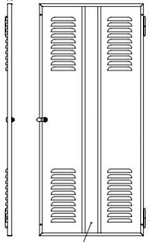 Louvered Steel Door fits 78.75 inch panel space Sand ER-16596-S