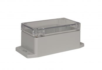 NEMA Box with Clear Cover and Mounting Brackets PN-1322-CMB