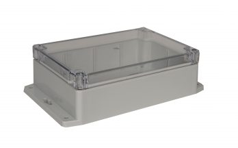 NEMA Box with Clear Cover and Mounting Brackets PN-1324-CMB