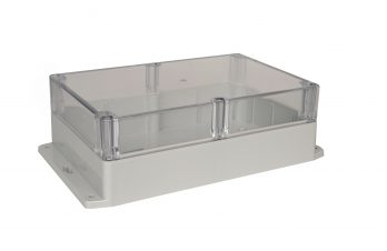 NEMA Box with Clear Cover and Mounting Brackets PN-1329-CMB
