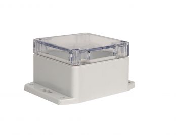 NEMA Box with Clear Cover and Mounting Brackets PN-1331-CMB