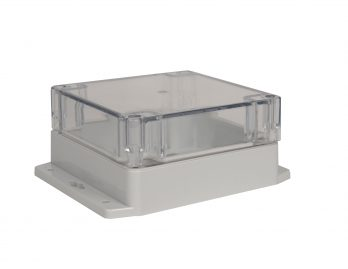 NEMA Box with Clear Cover and Mounting Brackets PN-1336-CMB