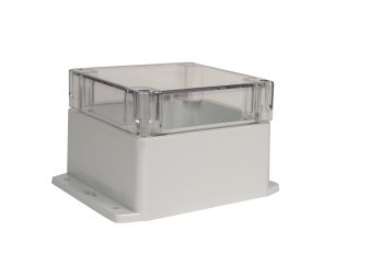NEMA Box with Clear Cover and Mounting Brackets PN-1337-CMB