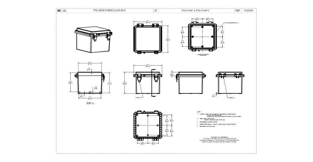 PTQ-11047 Dimensions