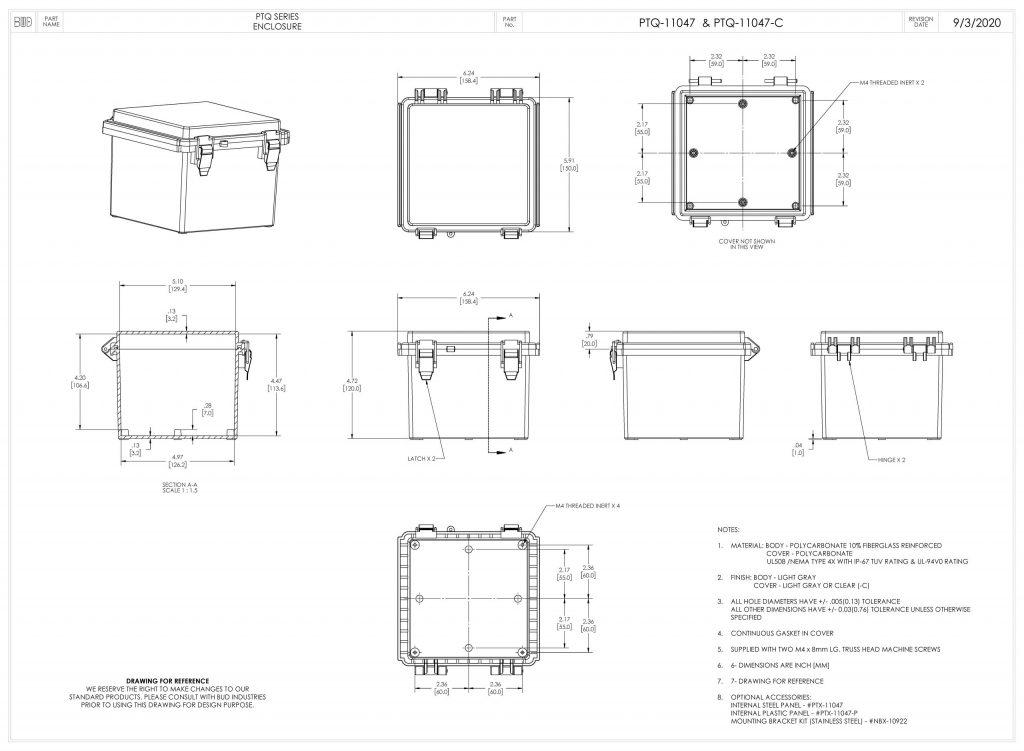 PTQ-11047-C Dimensions