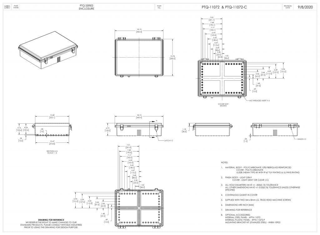 PTQ-11072 Dimensions
