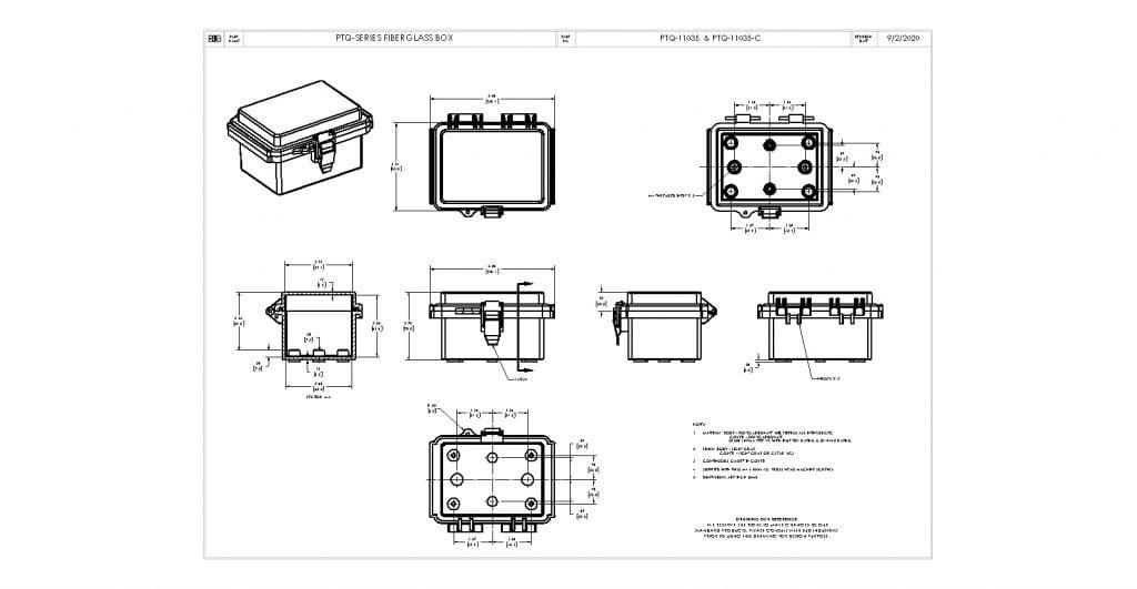 PTQ-11035-C Dimensions