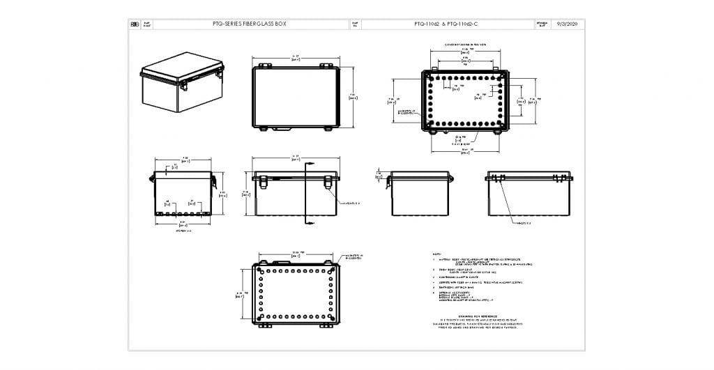 PTQ-11062-C Dimensions