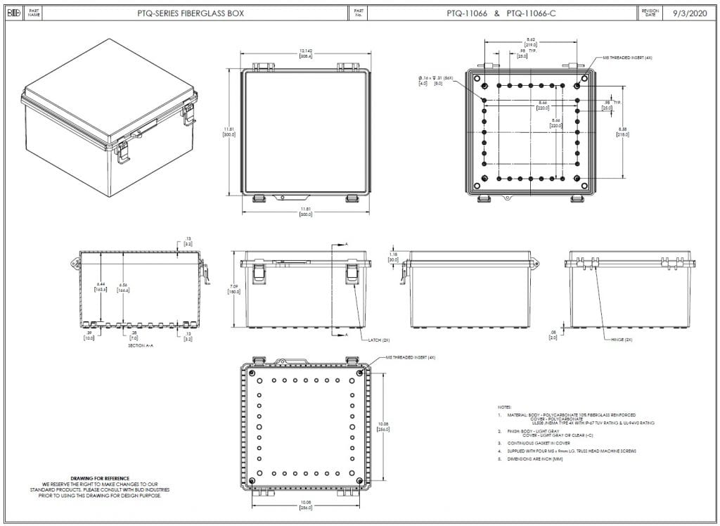 PTQ-11066 Dimensions