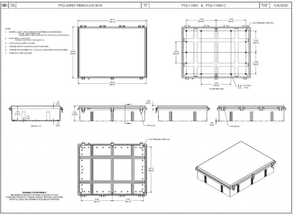 PTQ-11083 Dimensions