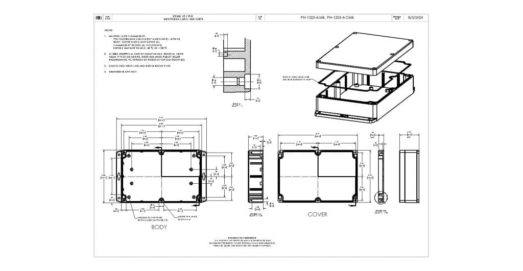 PN-1325-ACMB Dimensions