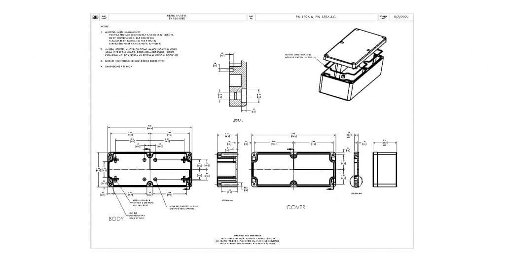 PN-1326-A Dimensions