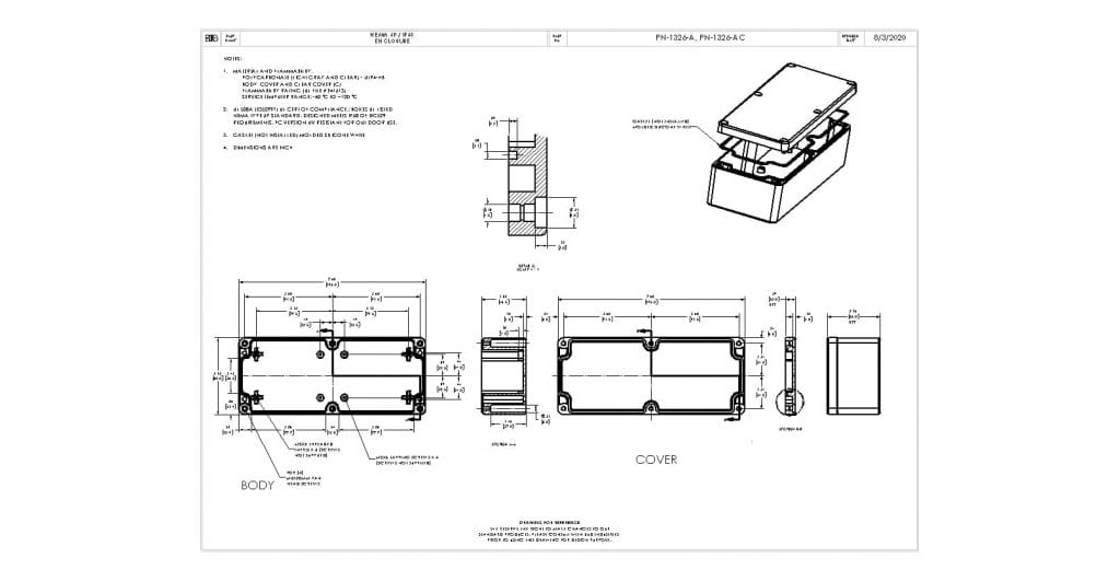 PN-1326-AC Dimensions