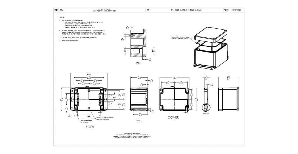 PN-1328-ACMB Dimensions