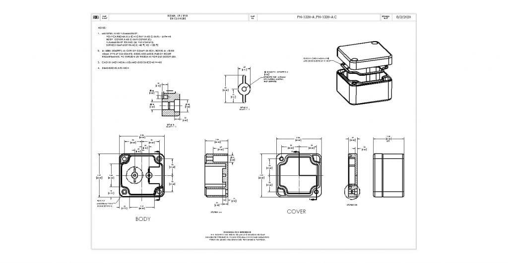 PN-1330-A Dimensions