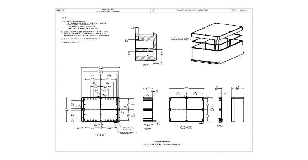 PN-1335-ACMB Dimensions