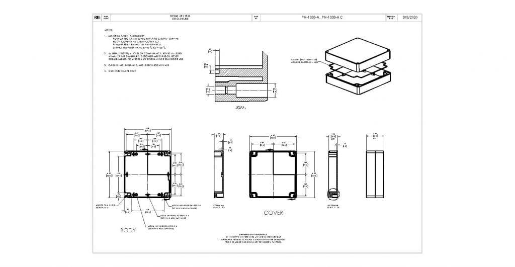 PN-1338-A Dimensions
