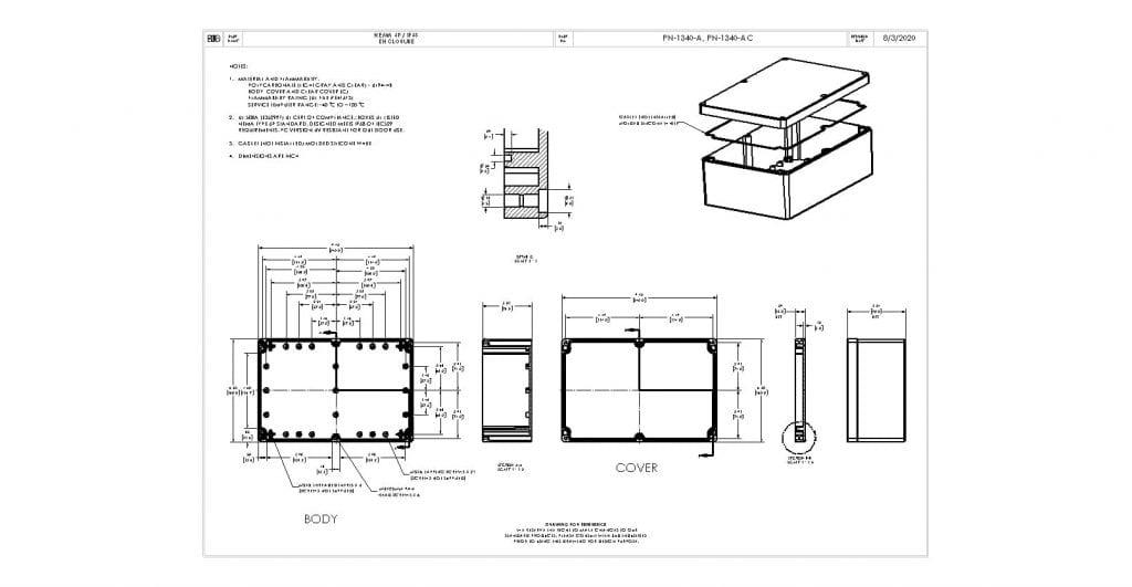 PN-1340-A Dimensions
