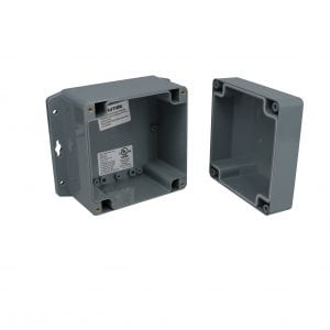 A Plastic Electronic Enclosure with Mounting Brackets