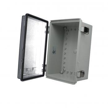 Bud's PTQ is a NEMA 6 IP 67 Plastic Electronic Enclosure