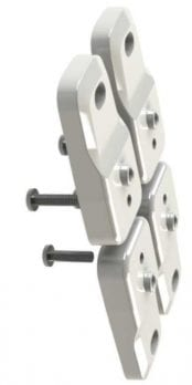 Replacement standard mounting brackets (4 brackets +4 screws) for DPH/S series