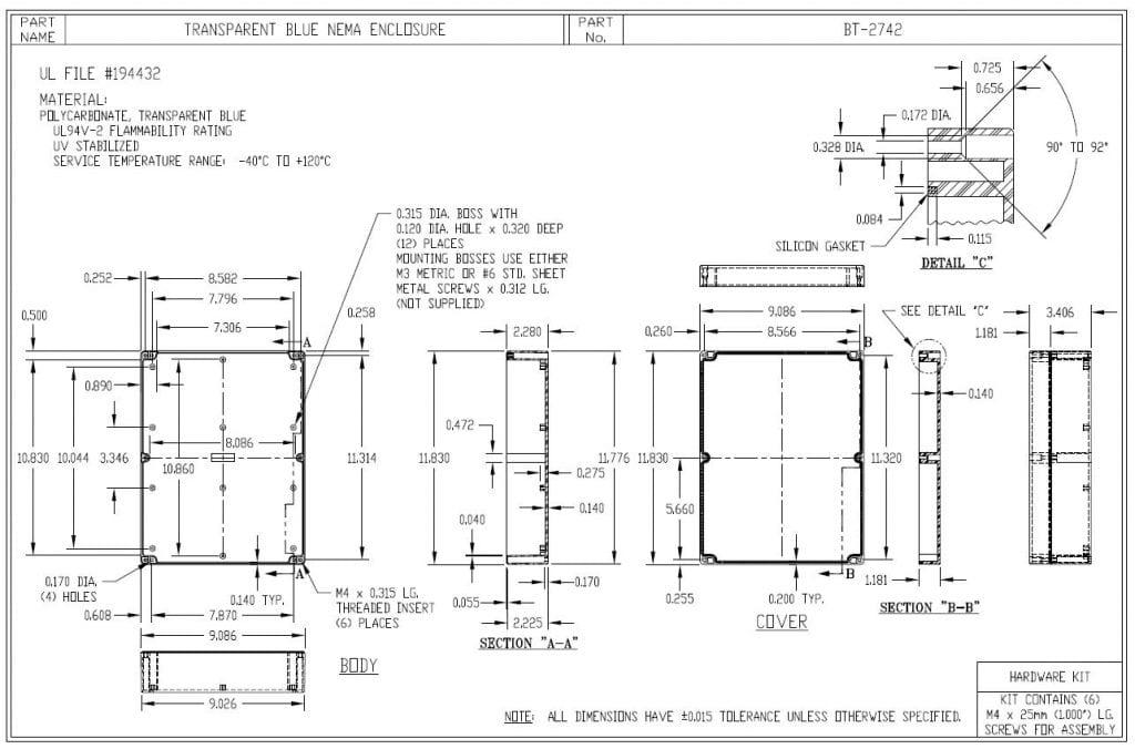 BT-2742 Dimensions
