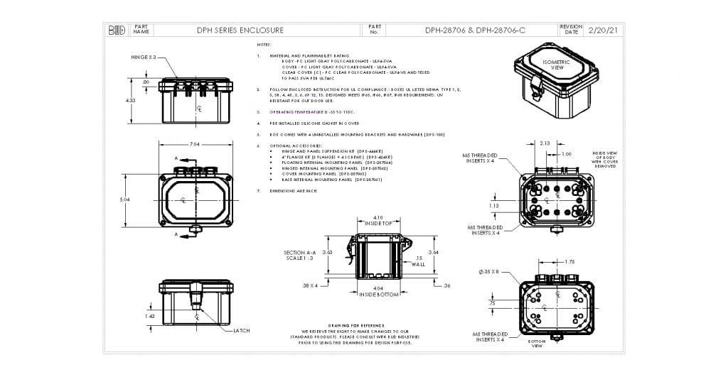 DPH-28706-C Dimensions