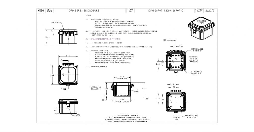 DPH-28707 Dimensions