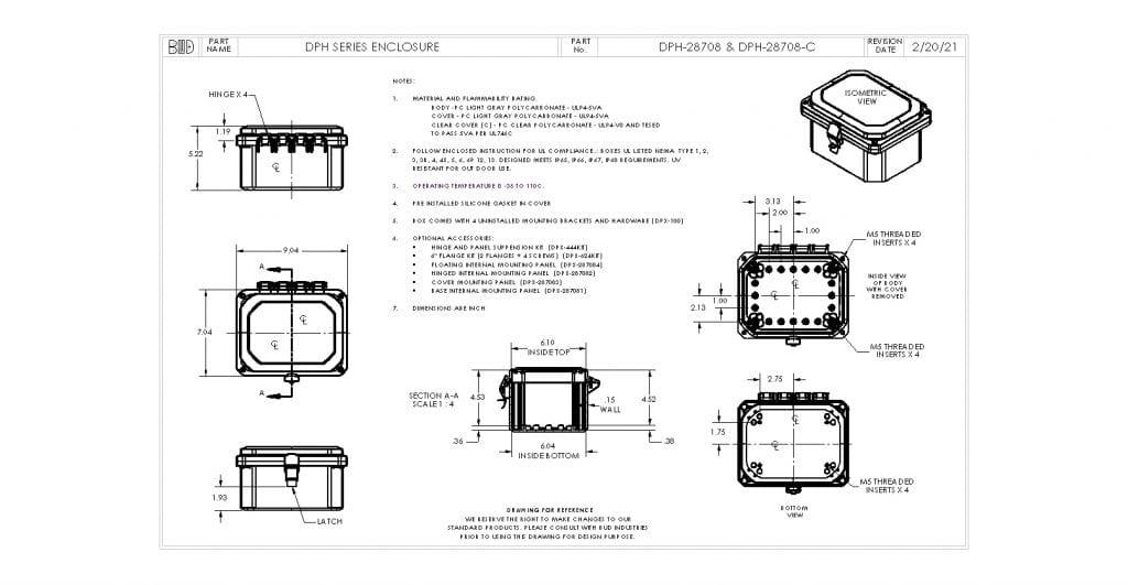 DPH-28708-C Dimensions