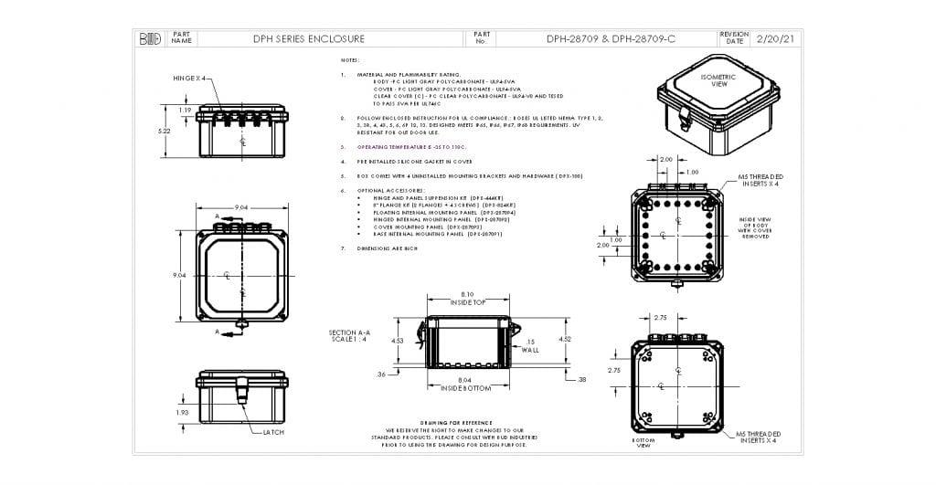 DPH-28709 Dimensions