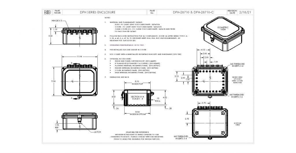 DPH-28710-C Dimensions