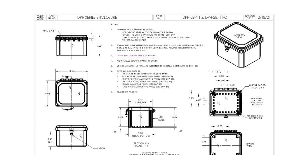 DPH-28711-C Dimensions