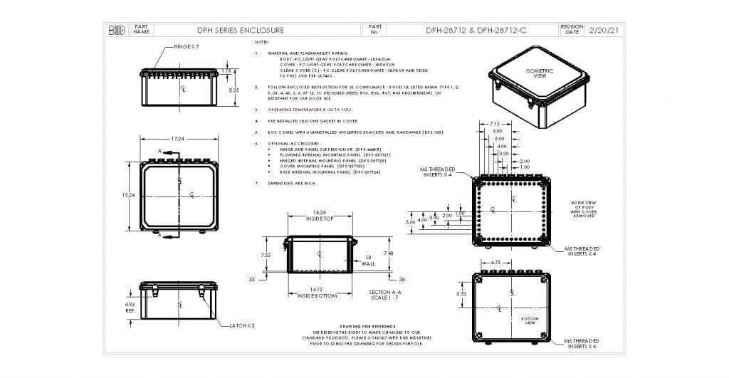 DPH-28712-C Dimensions