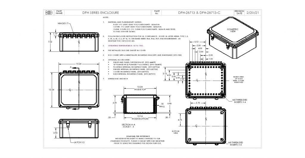 DPH-28713 Dimensions