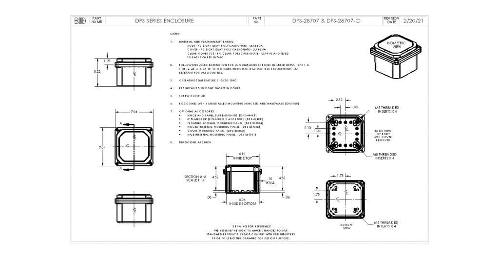 DPS-28707-C Dimensions