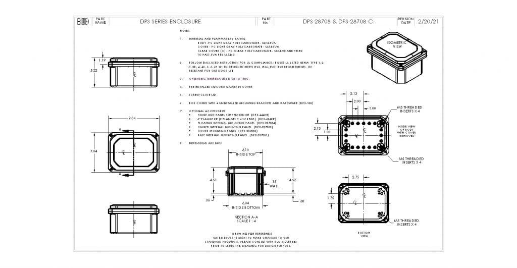 DPS-28708-C Dimensions