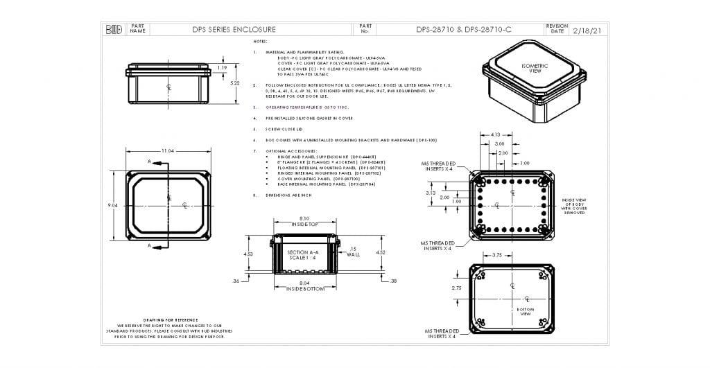 DPS-28710-C Dimensions
