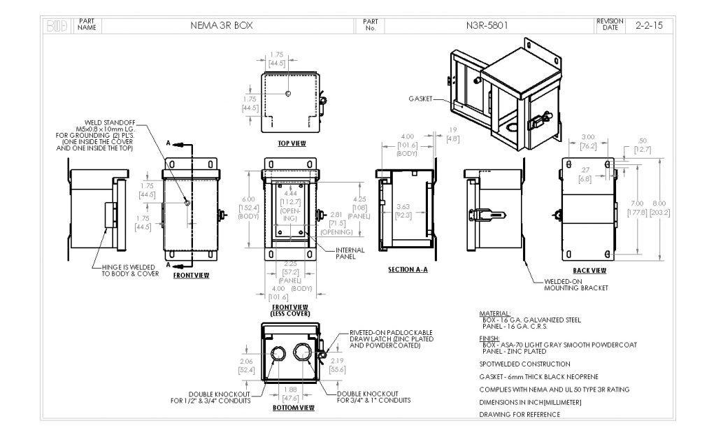 N3R-5801 Dimensions